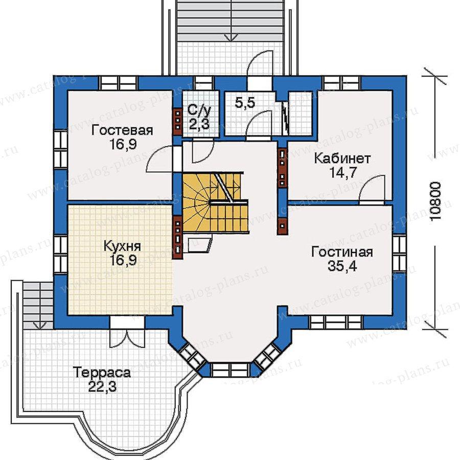 План 2-этажа проекта 51-17