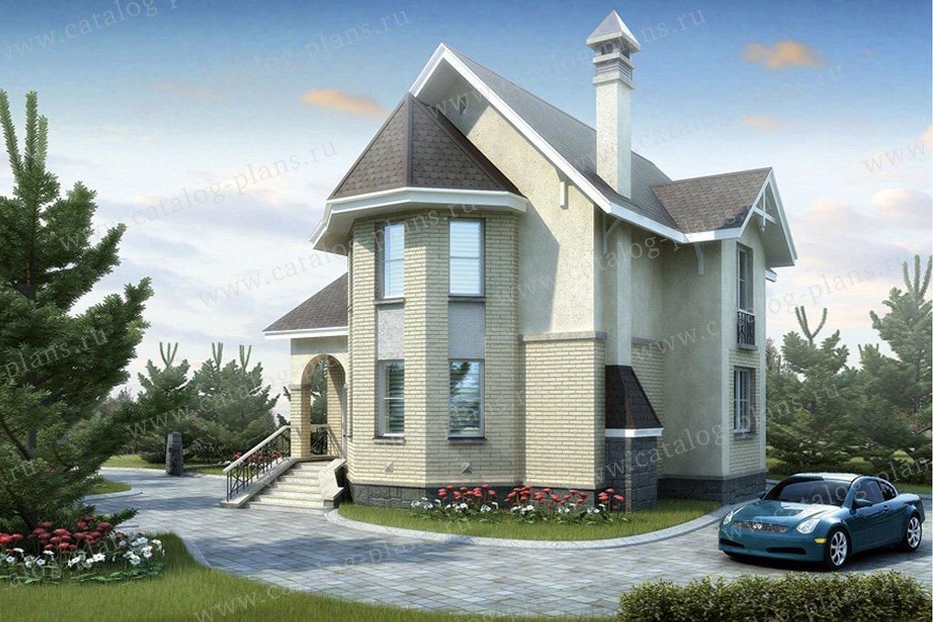 Проект жилой дом #51-28 материал - газобетон, стиль европейский