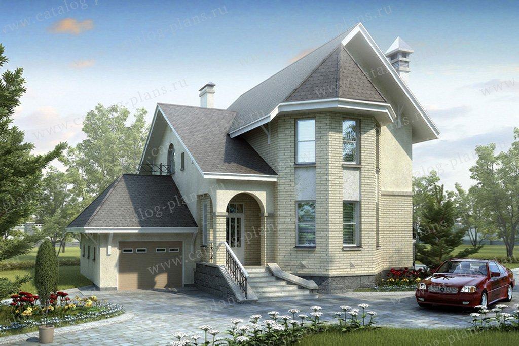 Проект жилой дом #51-26 материал - газобетон, стиль европейский