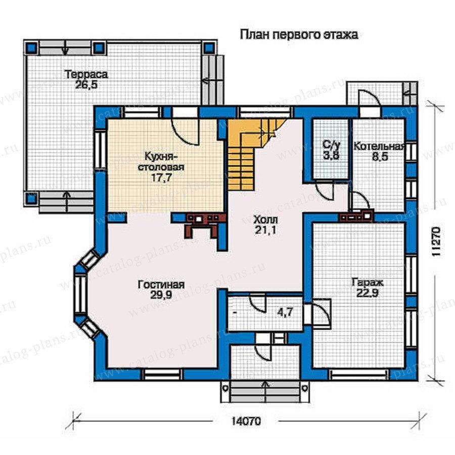 План 1-этажа проекта 50-95