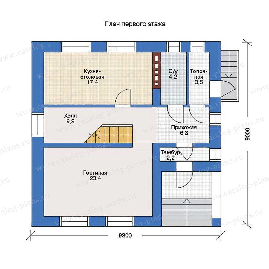 План 1-этажа проекта 51-03