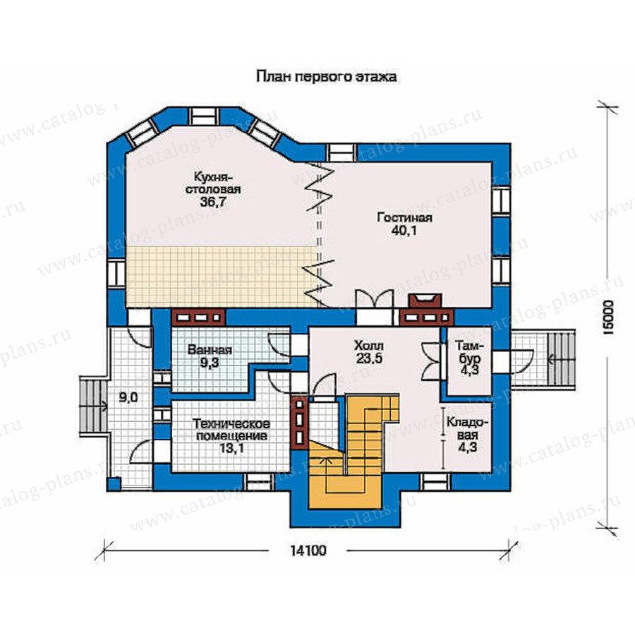 План 1-этажа проекта 50-83
