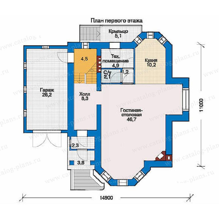 План 1-этажа проекта 51-26
