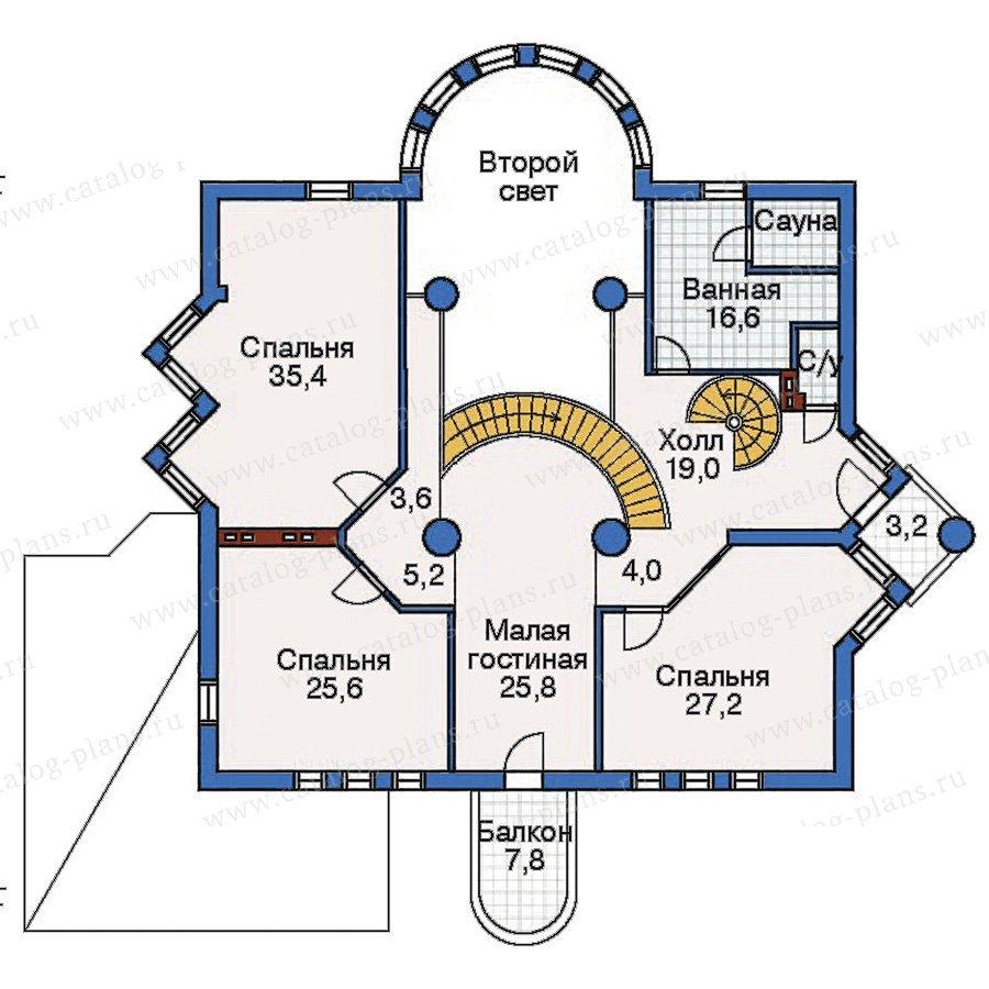 План 2-этажа проекта 50-87