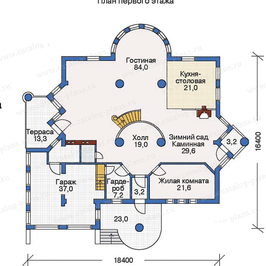 План 1-этажа проекта 50-87