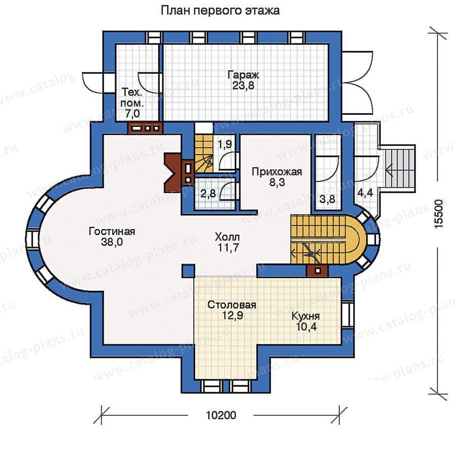 План 1-этажа проекта 50-68