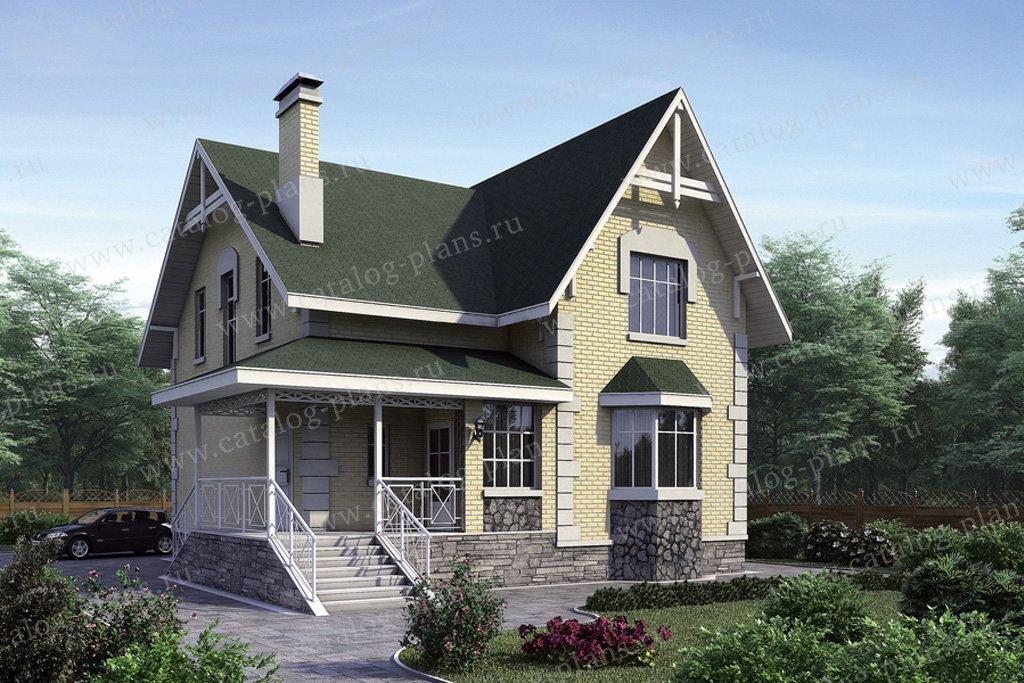 Проект жилой дом #51-29 материал - газобетон, стиль европейский
