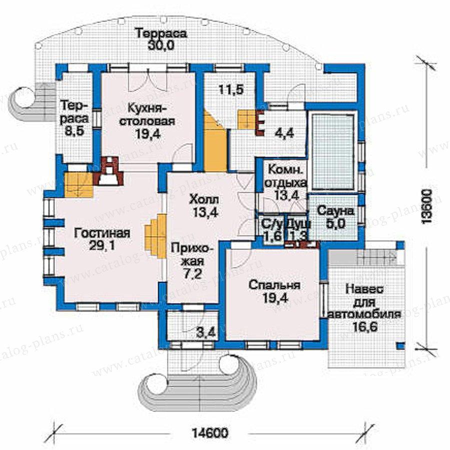 План 2-этажа проекта 51-21