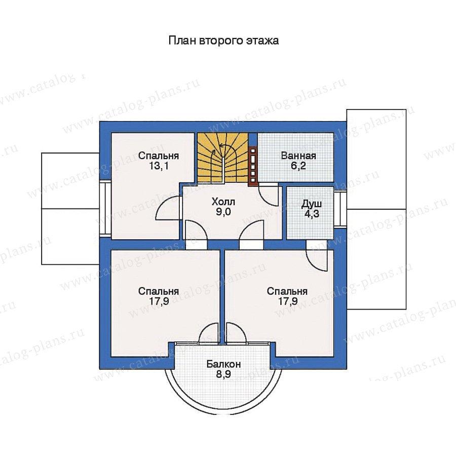 План 2-этажа проекта 50-93
