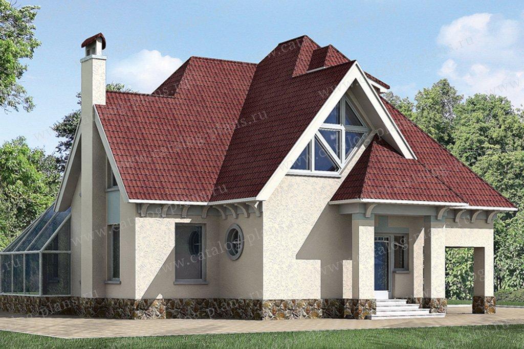 Проект жилой дом #51-14 материал - газобетон, стиль современный