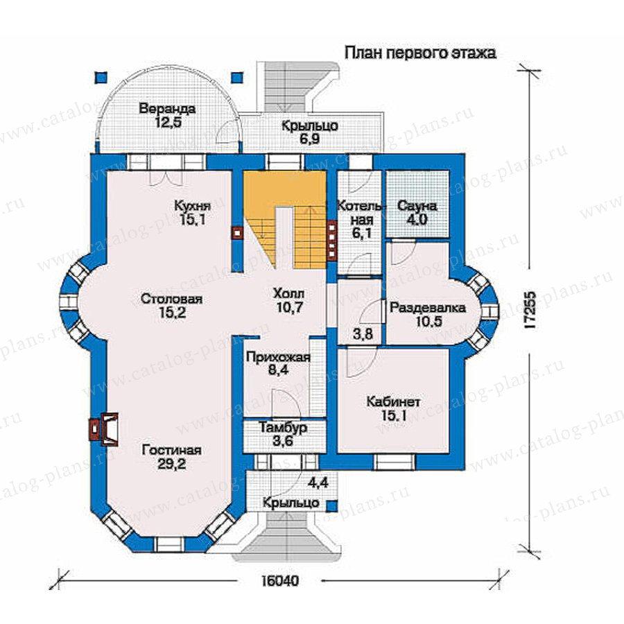 План 1-этажа проекта 51-25