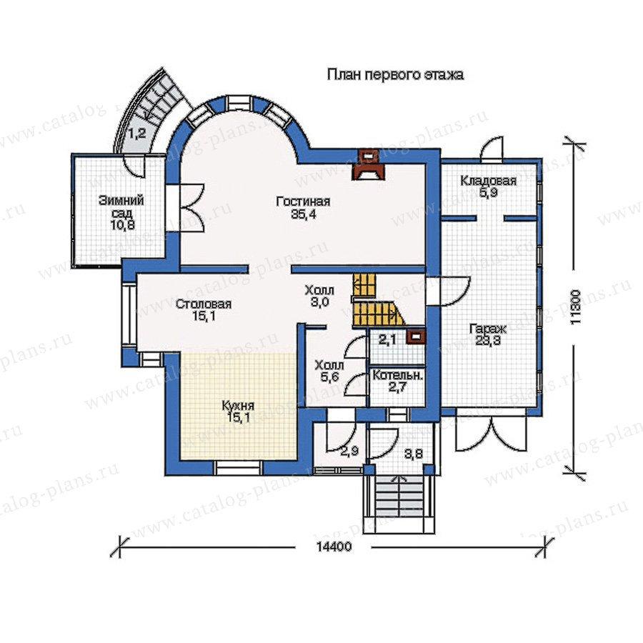 План 1-этажа проекта 50-67