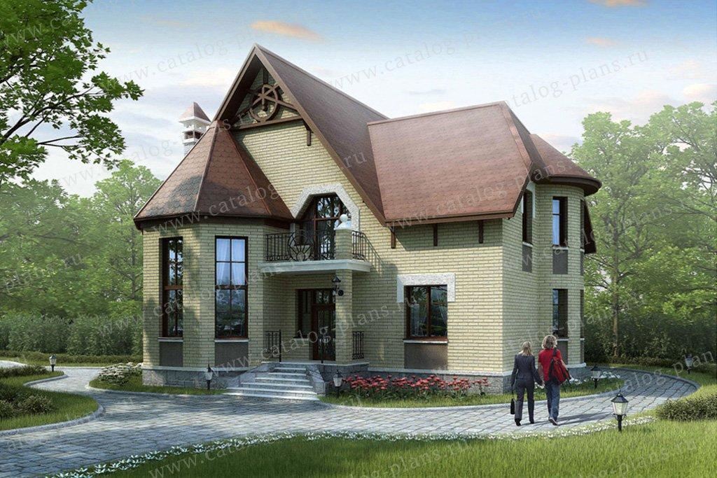 Проект жилой дом #51-25 материал - газобетон, стиль немецкий