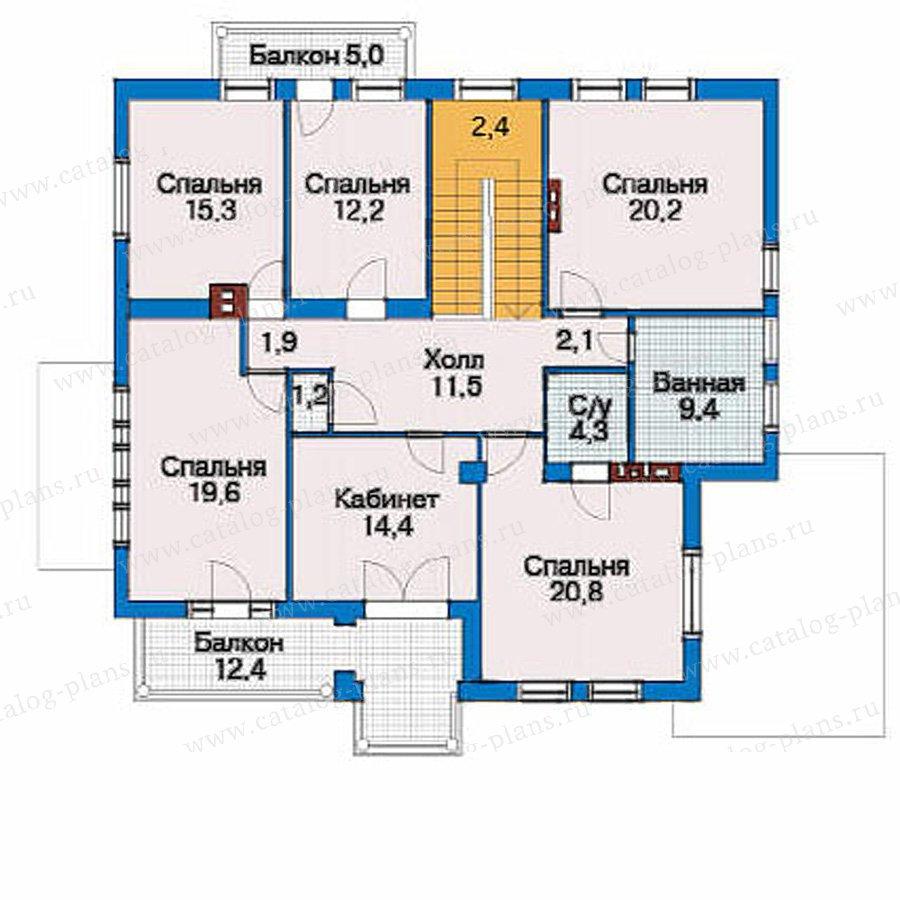 План 3-этажа проекта 51-21