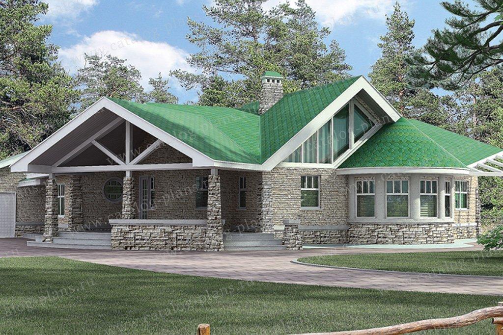 Проект жилой дом #51-15 материал - газобетон, стиль скандинавский