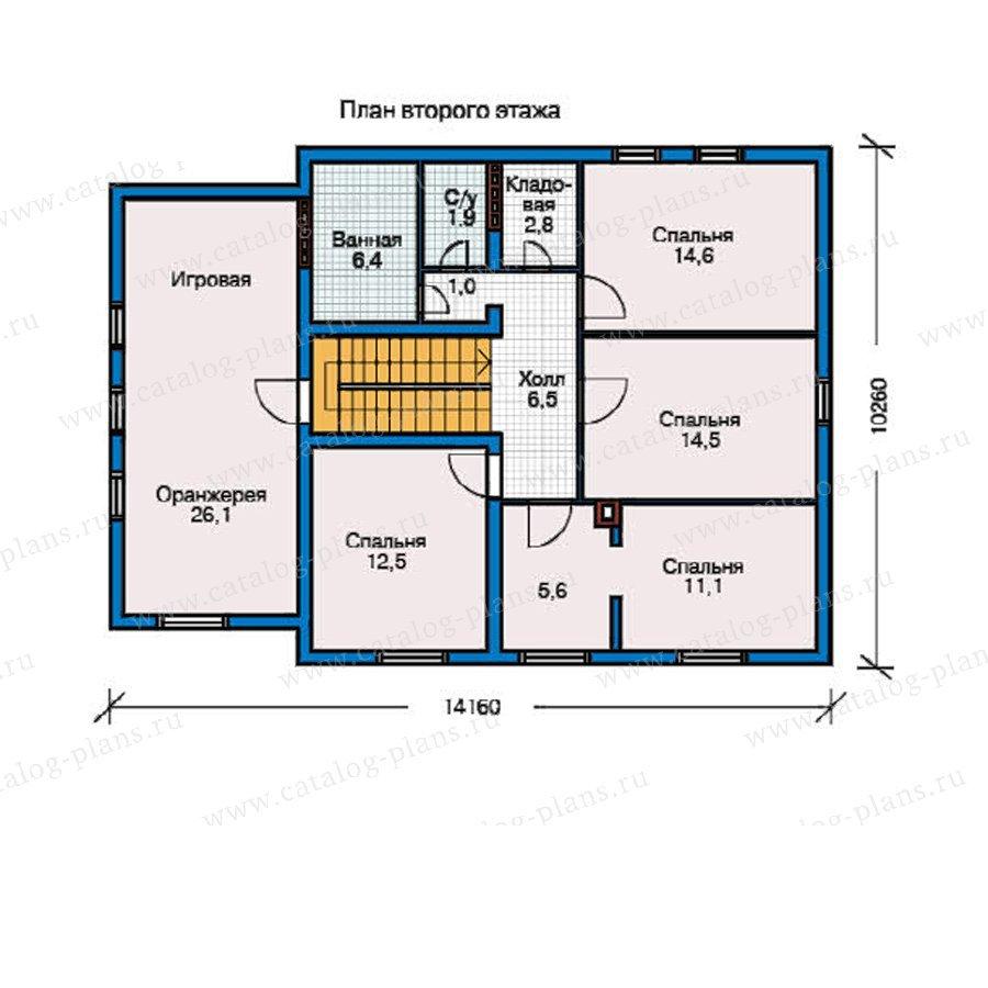 План 2-этажа проекта 50-82