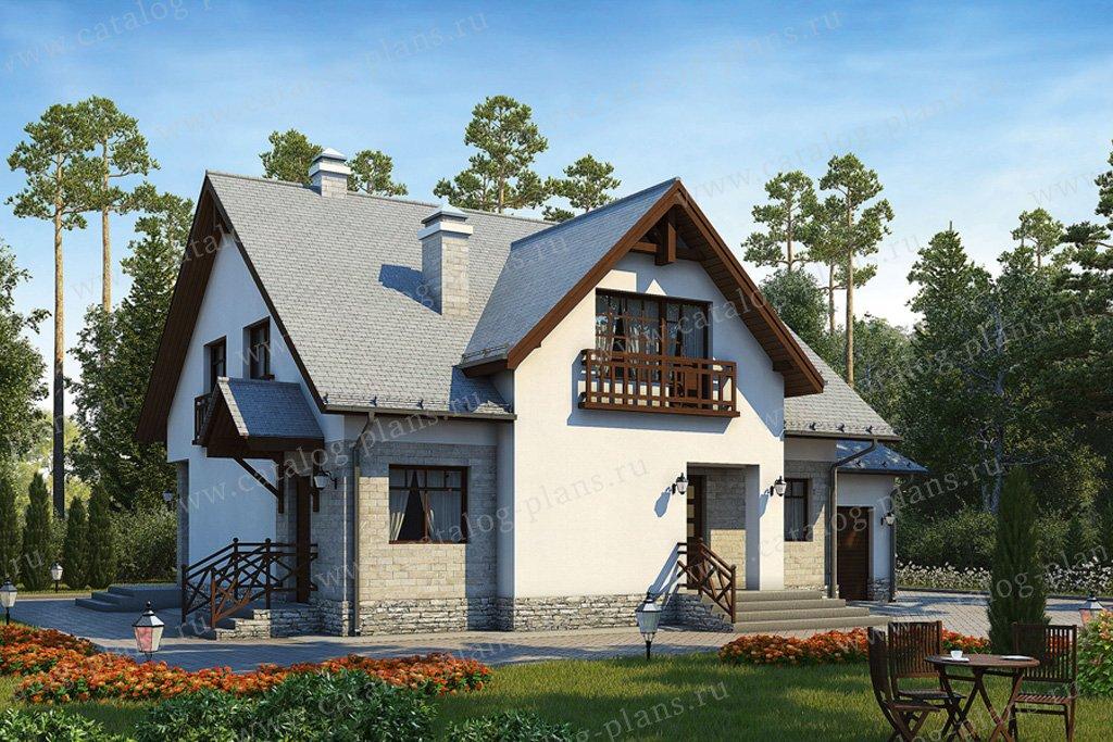 Проект жилой дом #50-86 материал - газобетон, стиль европейский