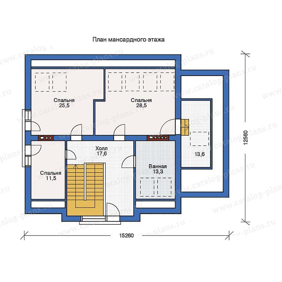 План 2-этажа проекта 50-85