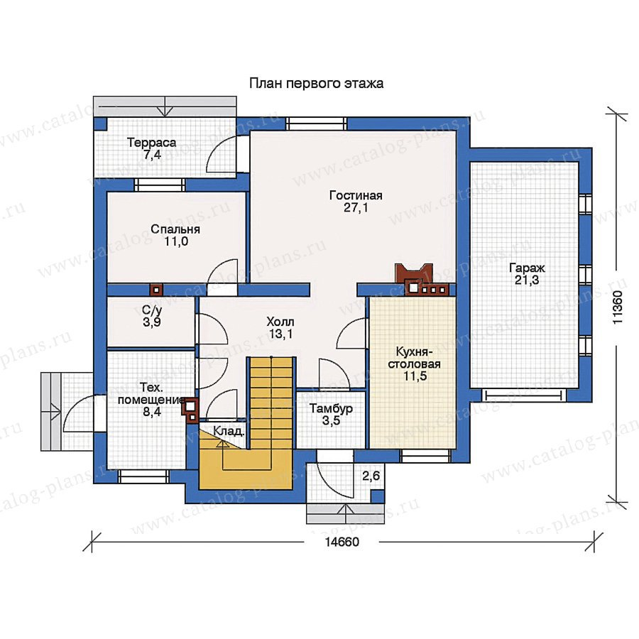 План 1-этажа проекта 50-86