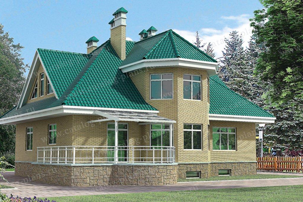 Проект жилой дом #51-17 материал - газобетон, стиль европейский