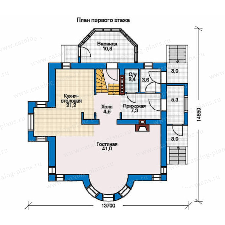 План 1-этажа проекта 50-94