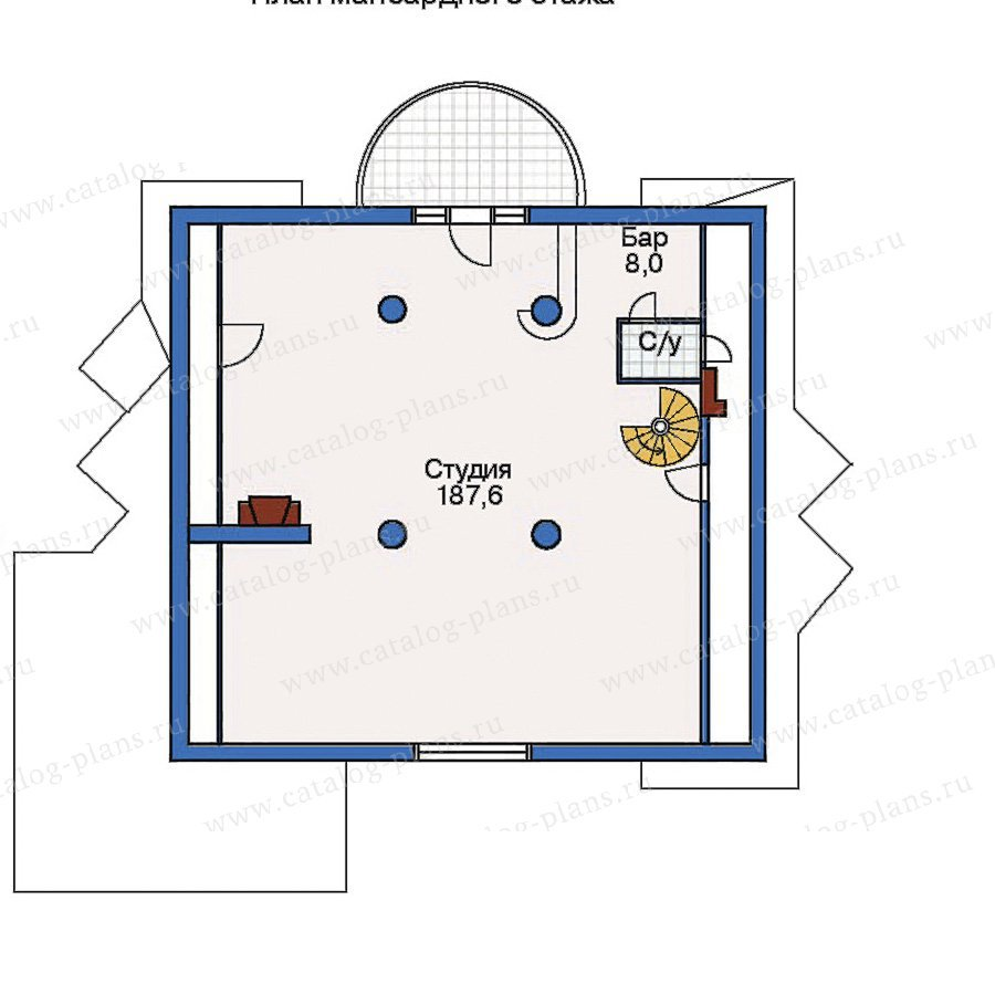 План 3-этажа проекта 50-87