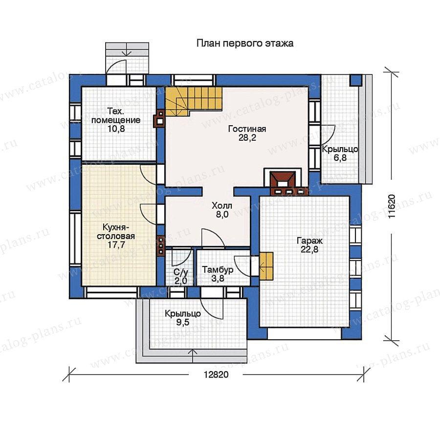 План 1-этажа проекта 51-00
