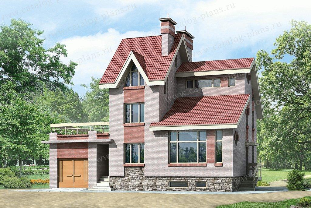 Проект жилой дом #51-06 материал - кирпич, стиль европейский