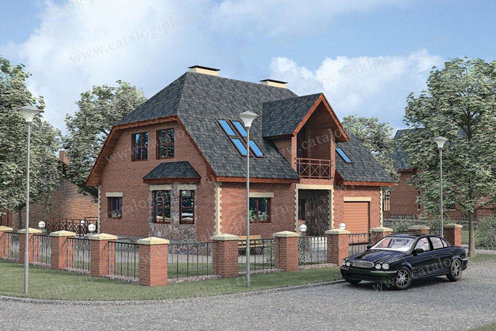 Проект жилой дом #51-20 материал - газобетон, стиль европейский
