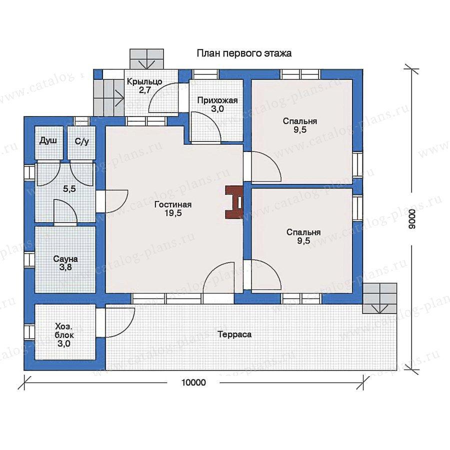 План 1-этажа проекта 51-12