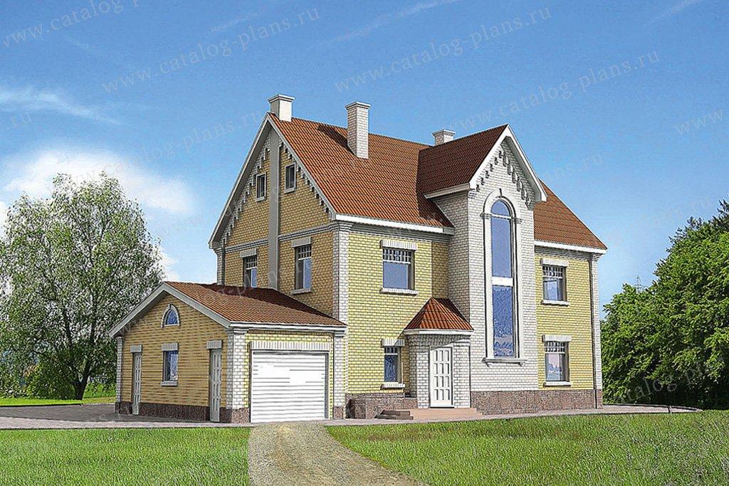 Проект жилой дом #51-19 материал - газобетон, стиль европейский