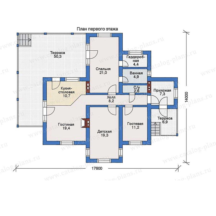 План 1-этажа проекта 51-62