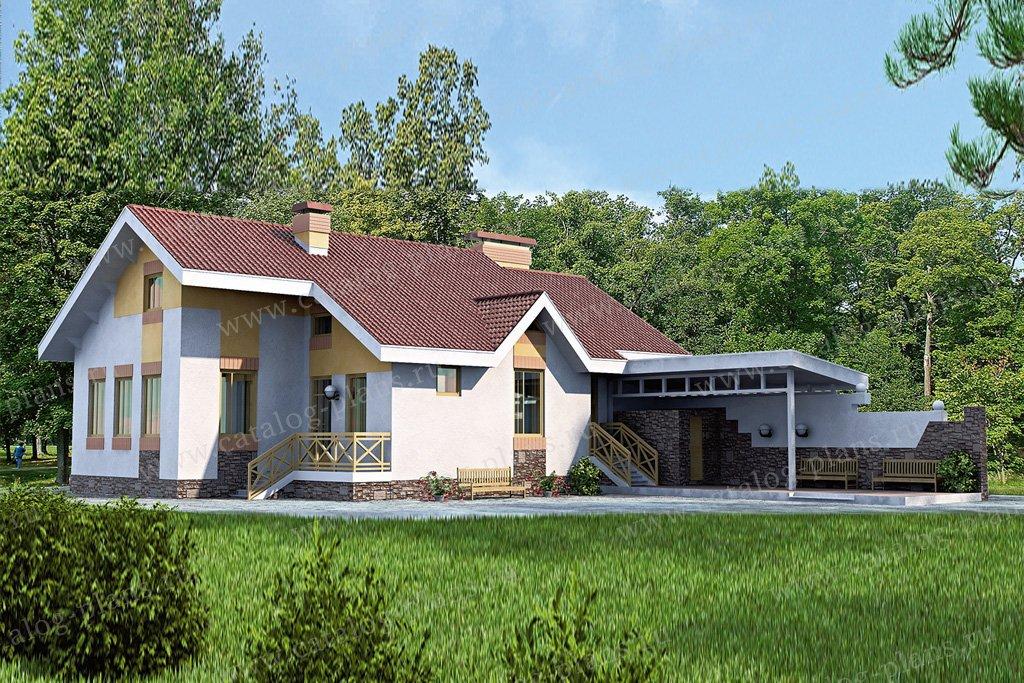 Проект жилой дом #51-55 материал - кирпич, стиль современный