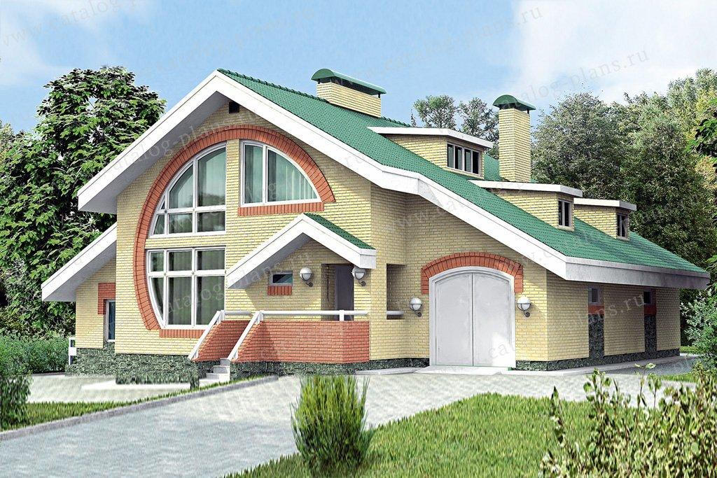 Проект жилой дом #51-44 материал - кирпич, стиль модерн