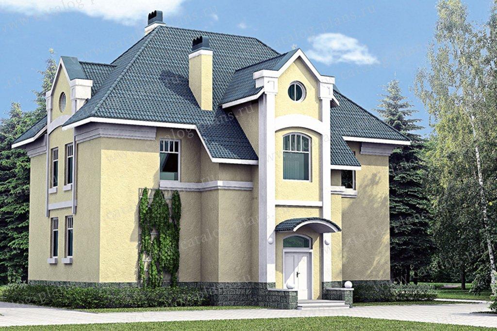 Проект жилой дом #51-47 материал - газобетон, стиль классический