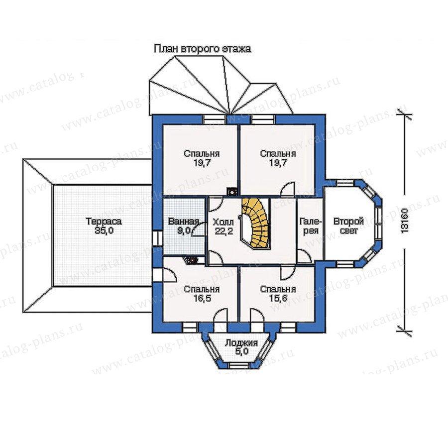 План 2-этажа проекта 51-31