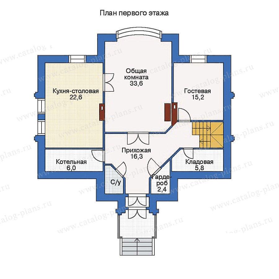 План 1-этажа проекта 51-47