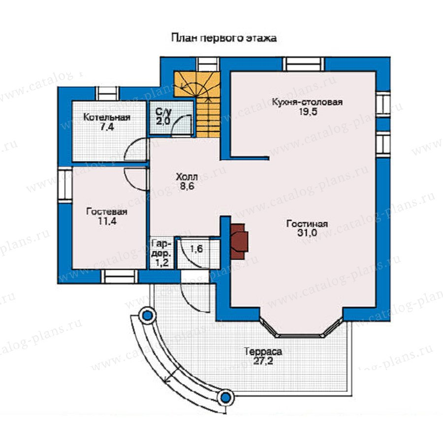 План 1-этажа проекта 51-48