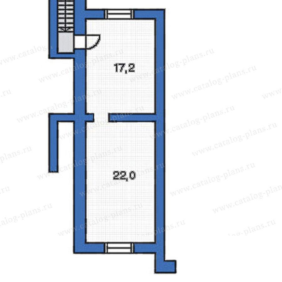 План 1-этажа проекта 51-43