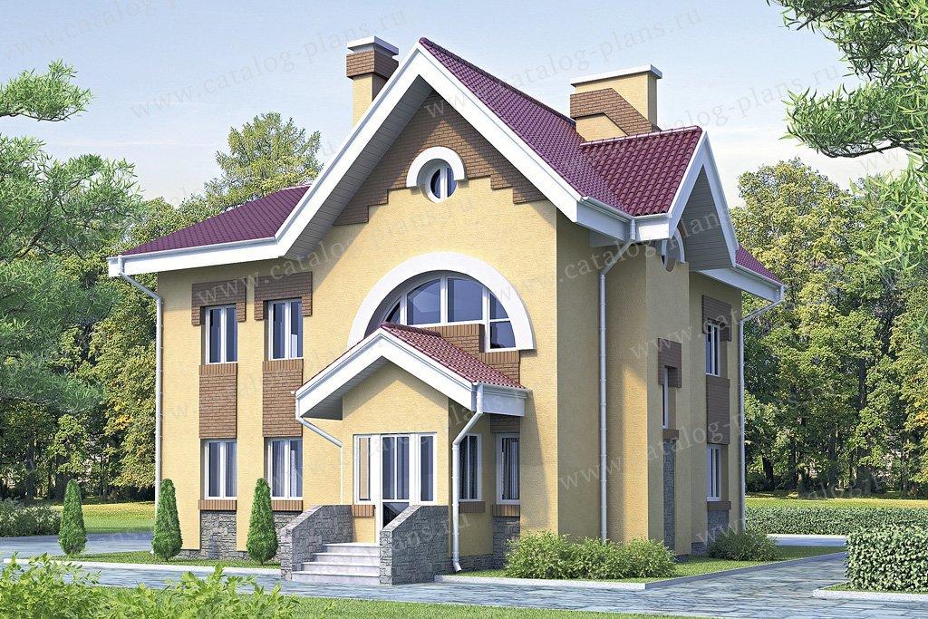 Проект жилой дом #51-45 материал - кирпич, стиль европейский