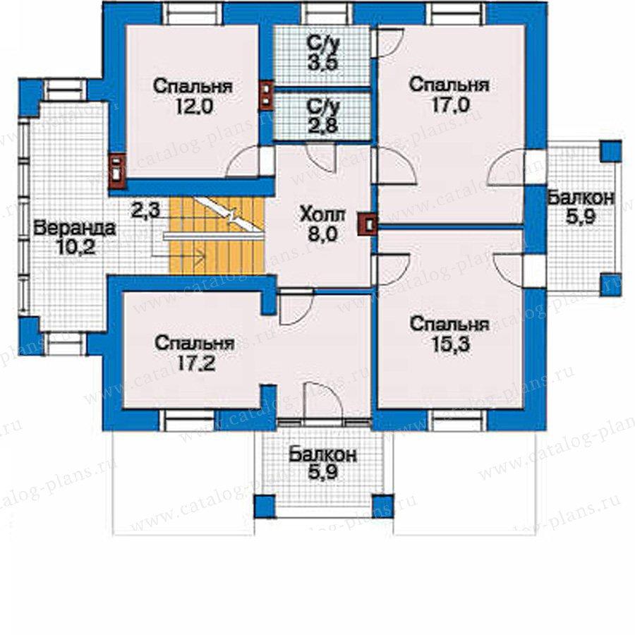 План 2-этажа проекта 51-95
