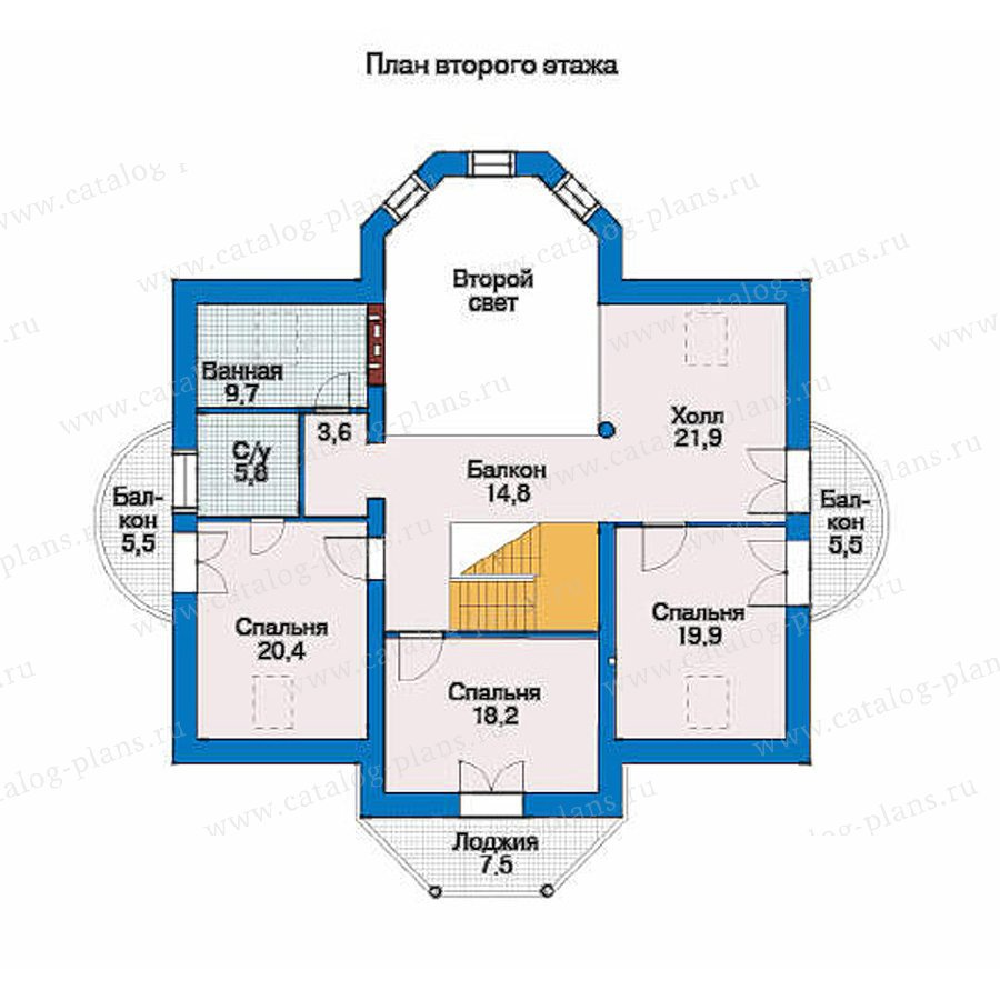 План 2-этажа проекта 51-30