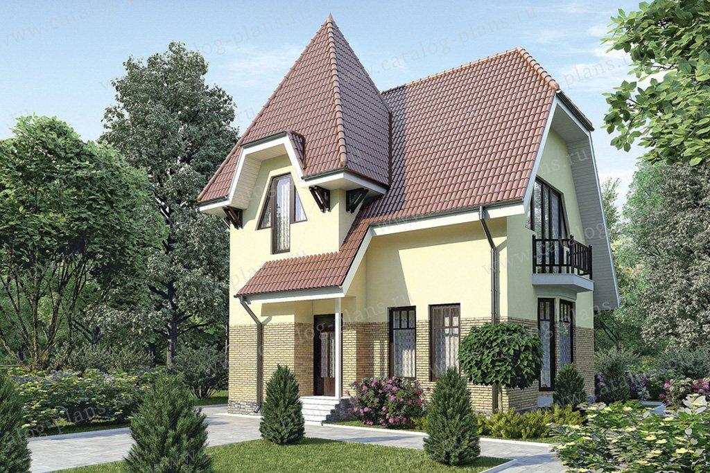 Проект жилой дом #51-52 материал - газобетон, стиль европейский
