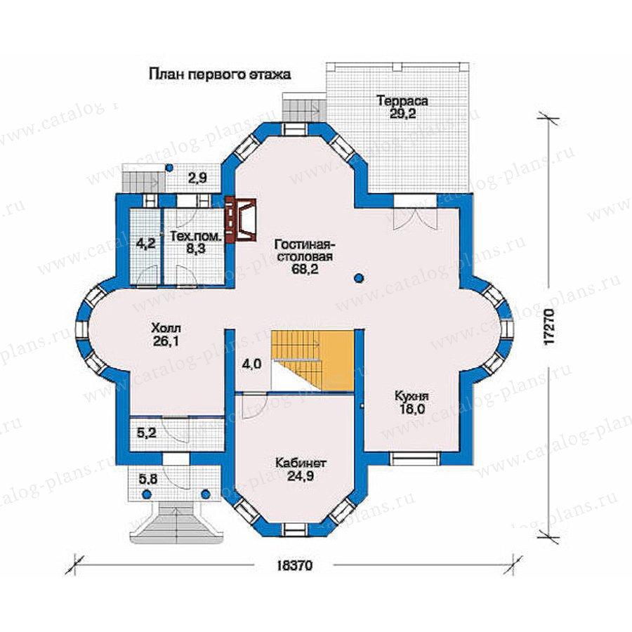 План 1-этажа проекта 51-30