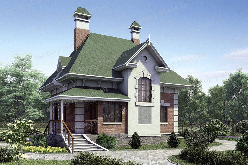 Проект жилой дом #51-71 материал - газобетон, стиль итальянский