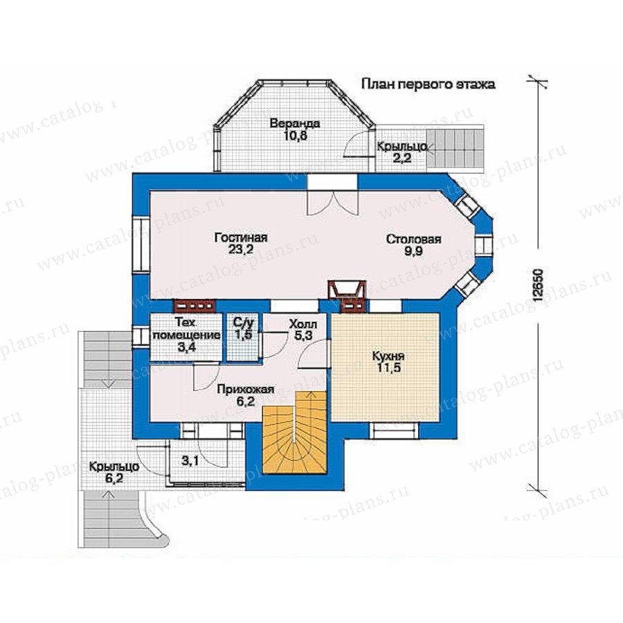 План 1-этажа проекта 51-71