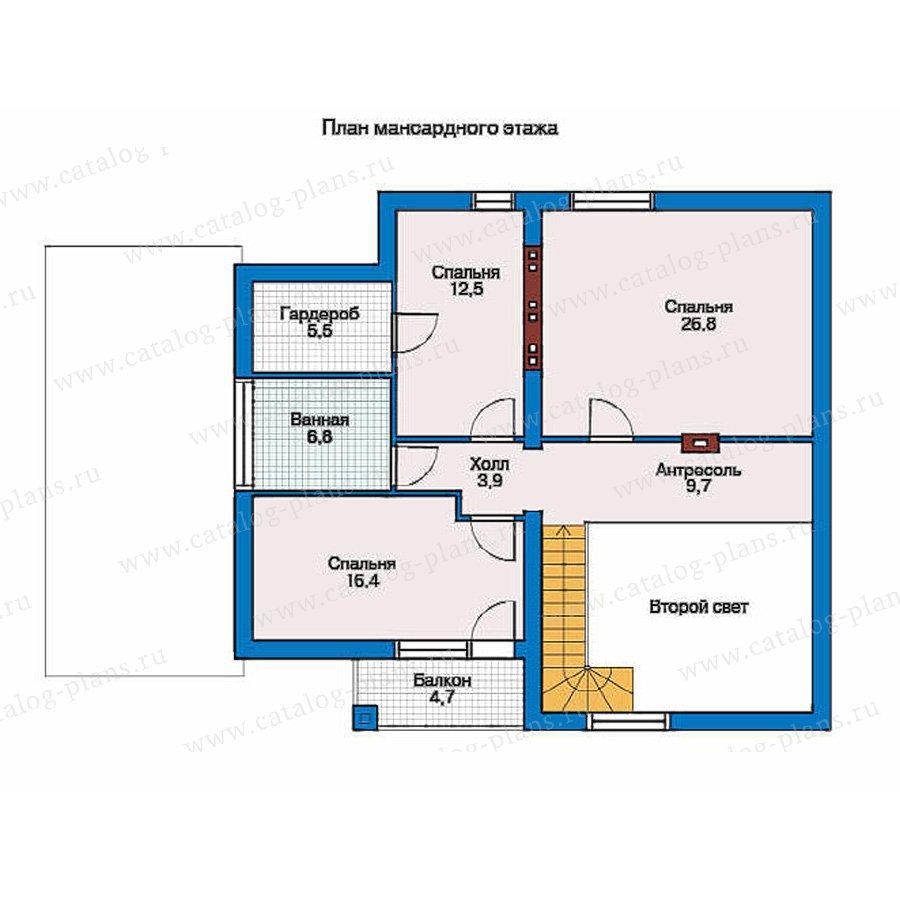 План 2-этажа проекта 51-81