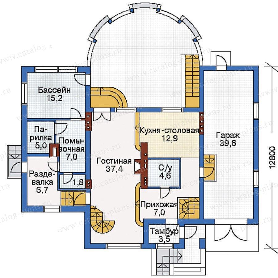 План 2-этажа проекта 51-44