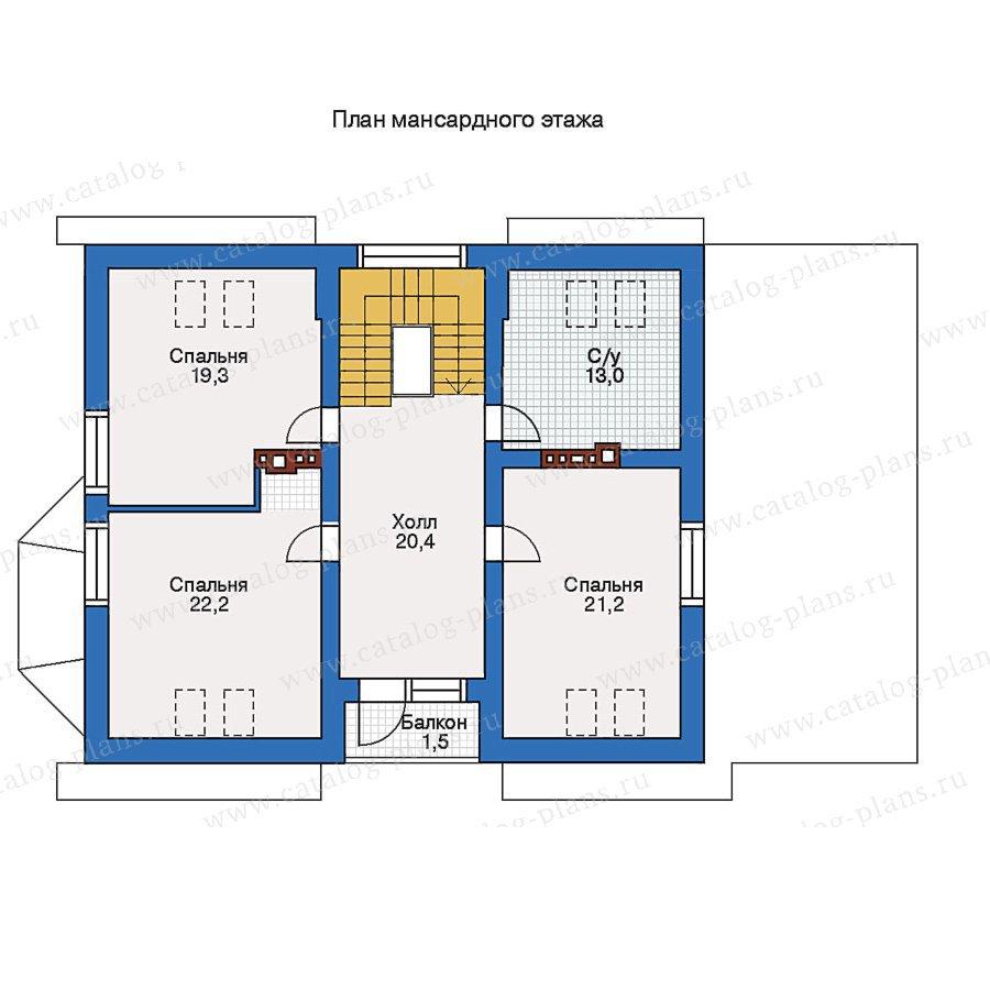План 2-этажа проекта 51-75