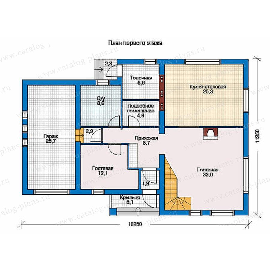 План 1-этажа проекта 51-81